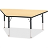 """Berries Toddler-sz Classic Clr Trapezoid Table - Trapezoid Top - Four Leg Base - 4 Legs - 48"""" Table Top Length x 24"""" Table Top Width x 1.13"""" Table Top Thickness - 15"""" Height - Assembly Required - Powd"""