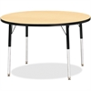 "Berries Adult Height Color Top Round Table - Round Top - Four Leg Base - 4 Legs - 1.13"" Table Top Thickness x 42"" Table Top Diameter - 31"" Height - Assembly Required - Powder Coated - Steel"