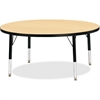 "Berries Toddler Height Color Top Round Table - Round Top - Four Leg Base - 4 Legs - 1.13"" Table Top Thickness x 42"" Table Top Diameter - 15"" Height - Assembly Required - Powder Coated - Steel"