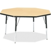"Berries Elementary Height Color Top Octagon Table - Octagonal Top - Four Leg Base - 4 Legs - 1.13"" Table Top Thickness x 48"" Table Top Diameter - 24"" Height - Assembly Required - Powder Coated - Steel"