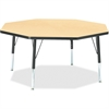 "Berries Toddler Height Color Top Octagon Table - Octagonal Top - Four Leg Base - 4 Legs - 1.13"" Table Top Thickness x 48"" Table Top Diameter - 15"" Height - Assembly Required - Powder Coated - Steel"