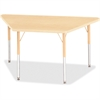 "Berries Adult-sz Maple Prism Trapezoid Table - Trapezoid Top - Four Leg Base - 4 Legs - 48"" Table Top Length x 24"" Table Top Width x 1.13"" Table Top Thickness - 31"" Height - Assembly Required - Powder"