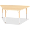 "Berries Elementary Maple Lamnt Trapezoid Table - Trapezoid Top - Four Leg Base - 4 Legs - 48"" Table Top Length x 24"" Table Top Width x 1.13"" Table Top Thickness - 24"" Height - Assembly Required - Powd"