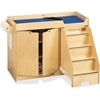 "Jonti-Craft Pull-out Stairs Changing Table - 39"" Height x 48"" Width x 22.50"" Depth - Assembly Required - Acrylic, Baltic"