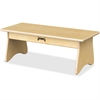 "Jonti-Craft Komfy Coffee Table - 27"" x 12"" x 10"" - Rounded Edge - Material: Acrylic - Finish: Baltic"