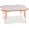 "Berries Elementary Height Prism Four-Leaf Table - Four Leg Base - 4 Legs - 1.13"" Table Top Thickness x 48"" Table Top Diameter - 24"" Height - Assembly Required - Powder Coated - Steel"