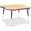 "Berries Elementary Black Edge Four-leaf Table - Four Leg Base - 4 Legs - 1.13"" Table Top Thickness x 48"" Table Top Diameter - 24"" Height - Assembly Required - Powder Coated - Steel"