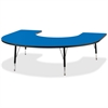 "Berries Toddler Black Edge Horseshoe Table - Horseshoe-shaped Top - Four Leg Base - 4 Legs - 66"" Table Top Length x 60"" Table Top Width x 1.13"" Table Top Thickness - 15"" Height - Assembly Required - P"