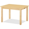 "Jonti-Craft Multi-purpose Maple Rectangle Table - Rectangle Top - Four Leg Base - 4 Legs - 24"" Table Top Length x 30"" Table Top Width - 10"" Height - Assembly Required - Laminated, Maple"