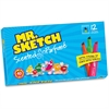 Mr. Sketch Scented Watercolor Markers - Bevel Point Style - Assorted - 12 / Set