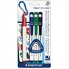 Staedtler Fine Tip Whiteboard Markers - Fine Point Type - Red, Blue, Green, Black - 4 / Pack