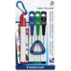 Staedtler Triplus Broad Tip Whiteboard Markers - Broad Point Type - Red, Blue, Green, Black - 4 / Pack