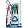 Staedtler Triplus Broad Tip Whiteboard Markers - Broad Point Type - Red, Blue, Green, Black - 4 / Pack