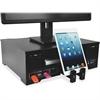 "Victor Monitor Riser - 50 lb Load Capacity - 5"" Height x 16"" Width x 13"" Depth - Wood - Black"