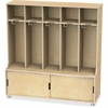 "TrueModern 5-space Metal Coat Hook Cubbie Locker - 5 Compartment(s) - 50"" Height x 48.5"" Width x 17.5"" Depth - Baltic - Anodized Aluminum - 1Each"