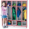 "Rainbow Accents 5-section Coat Locker - 5 Compartment(s) - 50.5"" Height x 48"" Width x 15"" Depth - Red - 1Each"
