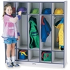 "Rainbow Accents 5-section Coat Locker - 5 Compartment(s) - 50.5"" Height x 48"" Width x 15"" Depth - Navy Blue - 1Each"