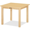 "Jonti-Craft KYDZSafe Multi-purpose Maple Square Table - Square Top - Four Leg Base - 4 Legs - 24"" Table Top Length x 24"" Table Top Width - 10"" Height - Assembly Required - Maple"