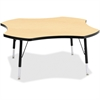 "Berries Color Top Four Leaf Activity Table - Four Leg Base - 4 Legs - 1.13"" Table Top Thickness x 48"" Table Top Diameter - 31"" Height - Assembly Required - Powder Coated - Steel"