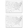 "ChenilleKraft Large USA Map Whiteboard - United States - 23.63"" Width x 18"" Height"