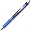 EnerGel Liquid Steel Tip Gel Pens - Medium Point Type - 0.7 mm Point Size - Refillable - Blue Gel-based Ink - Blue, Stainless Steel Barrel - 1 Dozen