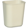 "Rubbermaid Commercial 14qt. Fire Resistant Wastebaskets - 3.50 gal Capacity - 12.2"" Height x 8.2"" Width - Fiberglass, Thermoset Polyester - Beige"
