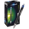 Uni-Ball Jetstream RT Bold Tip Ballpoint Pens - Bold Point Type - 1 mm Point Size - Refillable - Blue Pigment-based Ink - Metallic, Stainless Steel Barrel - 1 Dozen