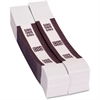 "Coin-Tainer Currency Straps - 1.25"" Width - Self-sealing, Self-adhesive, Durable - 20 lb Paper Weight - Kraft - White, Violet"