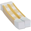"Coin-Tainer Currency Straps - 1.25"" Width - Self-sealing, Self-adhesive, Durable - 20 lb Paper Weight - Kraft - White, Yellow"