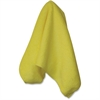 "Genuine Joe All-purpose Microfiber Cloth - Cloth - 16"" Width x 16"" Length - 12 / Bag - Yellow"