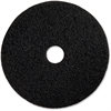 "Genuine Joe 13"" Black Floor Stripping Pad - 13"" Diameter - 5/Carton - Fiber - Black"