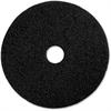"Genuine Joe 20"" Black Floor Stripping Pad - 20"" Diameter - 5/Carton - Fiber - Black"