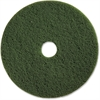 "Genuine Joe 17"" Scrubbing Floor Pad - 17"" Diameter - 5/Carton - Fiber - Green"
