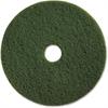 "Genuine Joe 20"" Scrubbing Floor Pad - 20"" Diameter - 5/Carton - Fiber - Green"