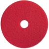 "Genuine Joe 17"" Red Buffing Floor Pad - 17"" Diameter - 5/Carton - Fiber - Red"