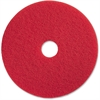 "Genuine Joe 19"" Red Buffing Floor Pad - 19"" Diameter - 5/Carton - Fiber - Red"