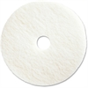 "Genuine Joe 20"" Super White Floor Pad - 20"" Diameter - 5/Carton - Fiber - White"