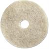 """Genuine Joe Soft Binder 20"""" Floor Pad - 20"""" Diameter - 5/Carton - Fiber - Natural"""