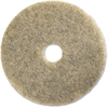 "Genuine Joe 20"" Multipurpose Floor Pad - 20"" Diameter - 5/Carton - Rubber, Synthetic Fiber - Natural"