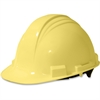 NORTH Peak A59 HDPE Shell Hard Hat - Head, Chemical, Thread Abrasion, Impact, Welding Sparks Protection - Nylon, High-density Polyethylene (HDPE), Plastic Suspension - Yellow - 1 Each