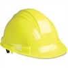 NORTH Yellow Peak A79 HDPE Hard Hat - Head, Chemical, Thread Abrasion, Impact, Welding Sparks Protection - Nylon, High-density Polyethylene (HDPE), Plastic Suspension - Yellow - 1 Each