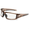 Uvex Hypershock Safety Eyewear - Smoke, Fog, Chemical, Impact Protection - Brown, Clear - 1 Each
