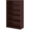 "Bush Business Furniture Bookcase; Harvest Cherry - 5 Compartment(s) - 65.9"" Height x 35.7"" Width x 15.5"" Depth - 1Each"