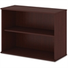 "Bush Business Furniture Bookcase; Harvest Cherry - 2 Compartment(s) - 29.1"" Height x 35.7"" Width x 15.5"" Depth - 1Each"