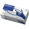 Medline SensiCare Ice Blue Nitrile Exam Gloves - Medium Size - Nitrile - Dark Blue - Powder-free, Comfortable, Chemical Resistant, Latex-free, Beaded Cuff, Textured Fingertip, Non-sterile, Durable - F