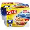 Glad 25-oz. Food Containers - 25 fl oz Food Container, Lid - Plastic - Dishwasher Safe - Microwave Safe - Clear - 6 Piece(s) / Carton