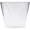 Milan Crystal Square Tumblers - 9 fl oz - 16 / Pack - Crystal Clear - Polystyrene - Beverage, Juice, Soda