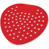Impact Products Deluxe Deodorizing Urinal Screens - Deodorizer, Flexible - Cherry Fragrance - Lasts up to 45 Day - 1 Dozen - Red