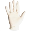 Powdered Non-Sterile Latex Exam Gloves - Large Size - Latex - Natural - Powdered, Disposable, Beaded Cuff, Ambidextrous, Non-sterile, Comfortable, Snug Fit - For Medical, Dental, Laboratory