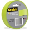 "Scotch Expressions Masking Tape - 0.94"" Width x 60 ft Length - Writable Surface, Easy Tear - 1 Roll - Lemon Lime"